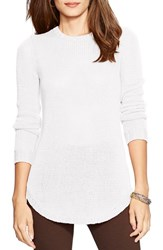 Petite Women's Lauren Ralph Lauren Crewneck Sweater White