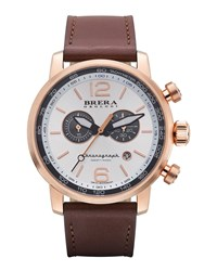 Dinamico Chronograph Watch Rose Silver Brera Rose Gold