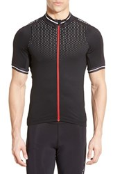 Men's Craft 'Glow' Fitted Moisture Wicking Stretch Cycling Jersey White Black Bright Red