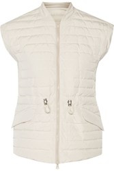 Brunello Cucinelli Quilted Shell Jacket White