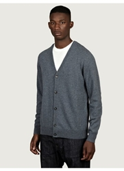 Maison Martin Margiela 14 Men's Leather Elbow Patch Cardigan Oki Ni