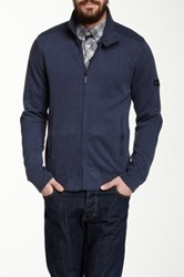 Ben Sherman Zip Front Fleece Sweatshirt Blue