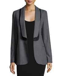 See By Chloe Layered Collar Open Blazer Gray Black