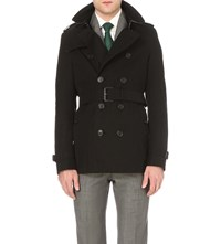 Burberry Heritage Slim Fit Short Trench Coat Black