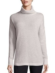 Vineyard Vines Wool And Cashmere Turtleneck Sweater Oatmeal Heather