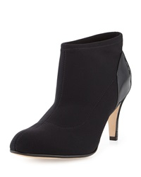 Taryn Rose Taft Stretch Fabric Patent Bootie Black