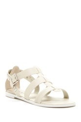 N.Y.L.A. Mentals Studded Flat Sandal White