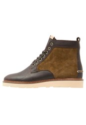 Pointer Kane Laceup Boots Blonde Loden Green Brown