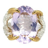 Tessa Metcalfe Claws Of Engagement Heated Treated Quartz Gold Silver Pink