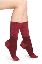 Women's Pantherella 'Chloe' Cable Knit Socks Burgundy Merlot