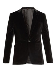 Burberry Tailored Velvet Dinner Jacket Black
