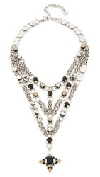 Dannijo Marcella Necklace Ox Silver Clear Matte Black Nu