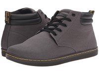 Dr. Martens Maleke Padded Collar Boot Lead Overdyed Twill Canvas Men's Pull On Boots Gray