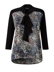 Grace Made In Britain Print Tunic Black