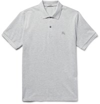 Burberry Brit Lim Fit Cotton Pique Polo Hirt Gray