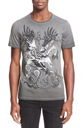 Men's Just Cavalli 'Distressed Tattoo' Graphic T Shirt