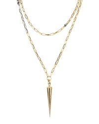 Paige Novick Gold Plated Caged Spike Necklace 30