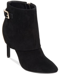 Jessica Simpson Dyers Cuffed Dress Booties Women's Shoes Black Suede