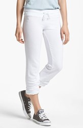Wildfox Couture Women's Wildfox 'Basics Malibu' Skinny Jogging Pants Clean White