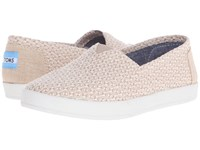 Toms Avalon Slip On Natural Woven Triangle Women's Slip On Shoes Beige
