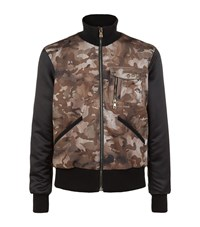 Versus By Versace Lion Camo Bomber Jacket Male Green