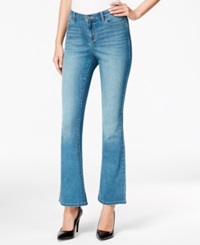 Style And Co. 5 Pocket Flare Jeans Bijou Wash Only At Macy's