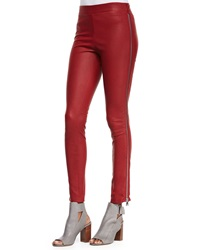 Vince Side Zip Leather Leggings