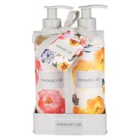 Heathcote And Ivory Vintage Patterns Petals Hand Wash Lotion Set