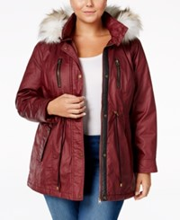 American Rag Plus Size Faux Fur Hood Cinch Waist Coat Only At Macy's Zinfindel