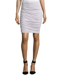 Three Dots Ruched Side Jersey Skirt Vapor