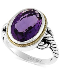 Effy Collection Balissima By Effy Amethyst Oval Ring In Sterling Silver And 18K Gold 5 1 4 Ct. T.W.
