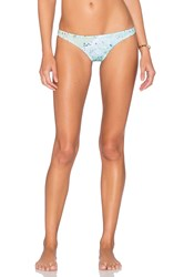 Basta Surf X Gray Malin Bahia Reversible Ruched Bikini Bottom Blue