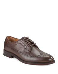 Polo Ralph Lauren Moseley Perforated Leather Oxfords Brown