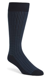 Calibrate Men's 'Background Dots' Socks Navy