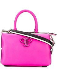 Emilio Pucci Rectangle Logo Tote Pink And Purple