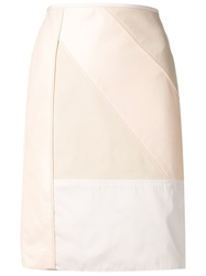 Reed Krakoff Patchwork Pencil Skirt Nude And Neutrals