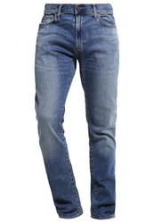 Abercrombie And Fitch Slim Straight Slim Fit Jeans Medium Wash Destroyed Denim