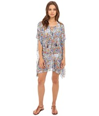 Tommy Bahama Provincial Short Caftan Cover Up Multicolor Women's Swimwear