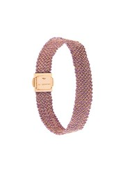 Carolina Bucci 18Kt Rose Gold 'Woven' Bracelet Pink And Purple