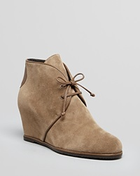 Stuart Weitzman Lace Up Wedge Booties Kalahari Neutral Sport