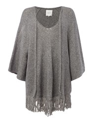 Part Two Stylish Poncho Made From A Comfortable Alpaca Ble Grey