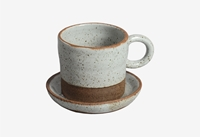 Aubrac Coffee Cup And Saucer Cow Co