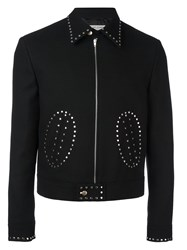 Saint Laurent Studded Short Jacket Black