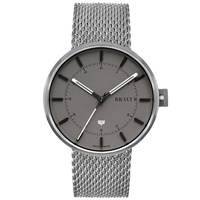 Bravur Watches Bw002 Silver Stainless Steel Grey Dial Watch