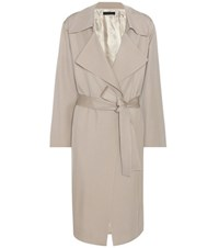 The Row Loreno Virgin Wool Trench Coat Beige