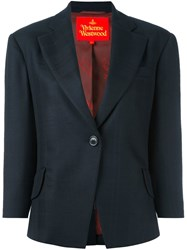 Vivienne Westwood Red Label One Button Blazer Blue