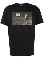 Paul Smith Ps By 'Man On The Moon' T Shirt Black