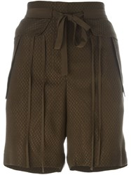 Chloa Woven Shorts Brown