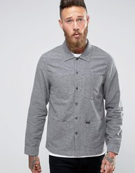 Lee Worker Overshirt Jacket Grey Melange Grey Mele