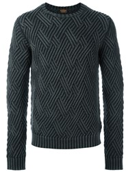 Tod's Diamond Knit Jumper Grey